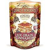 Organic 6-Grain Cinnamon Pancake and Waffle Mix by Birch Benders, Whole Grain, Non-GMO, 48 Ounce (16oz 3-pack)