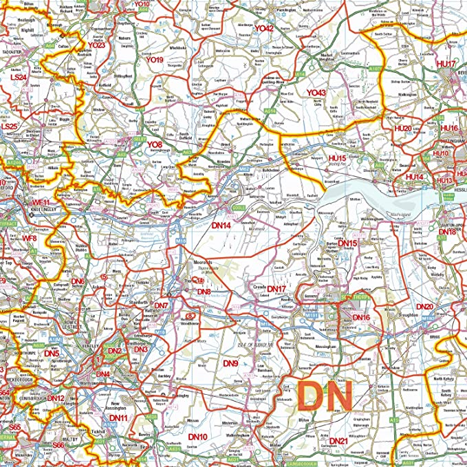 423ae8d7d91 Editable GeoPDF XYZ Postcode District Map D4 - North England