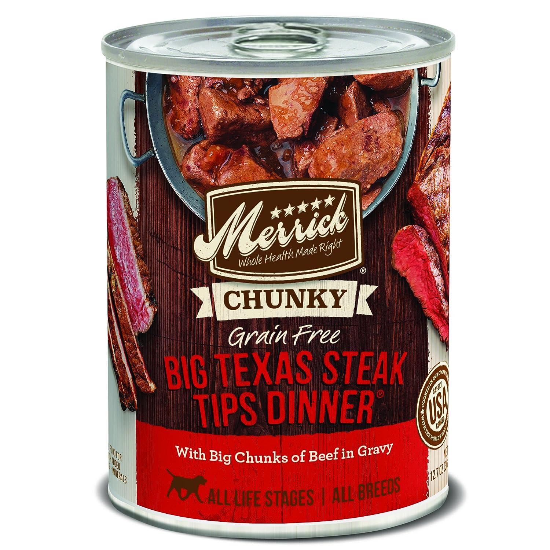 Merrick 12 Count Chunky Big Texas Steak Tips Dinner