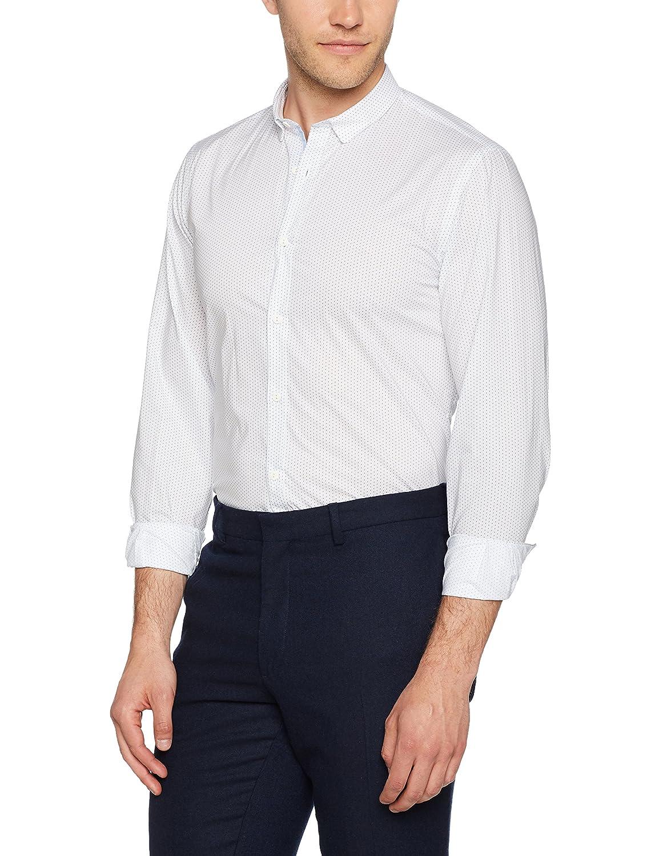 TALLA 39. El Ganso Cuello Club Classic Fit Motivo Pajaritos Camisa Casual para Hombre