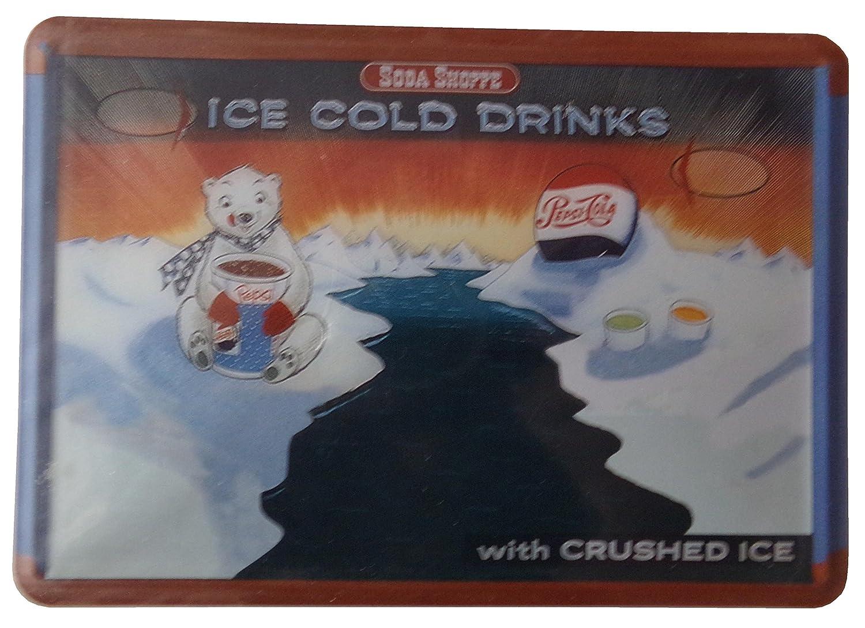 Pepsi Cola - Ice Cold Drinks - cartel de chapa 10 x 14 cm ...