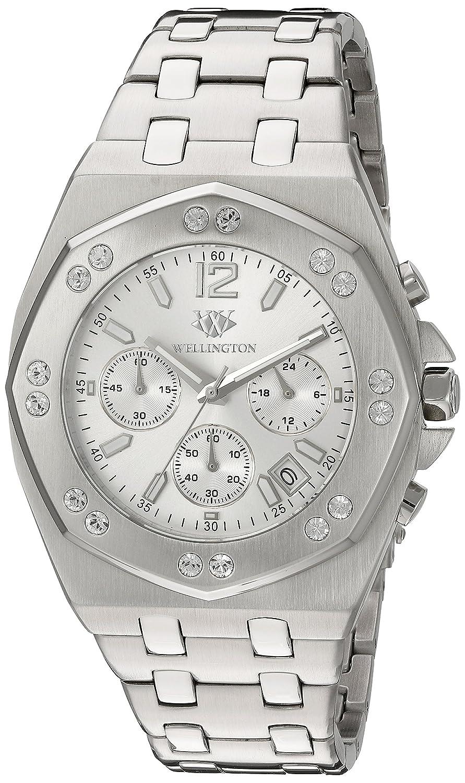 Wellington WN511-111 - Reloj analógico de Cuarzo para Hombre con Correa de Acero Inoxidable, Color Plateado