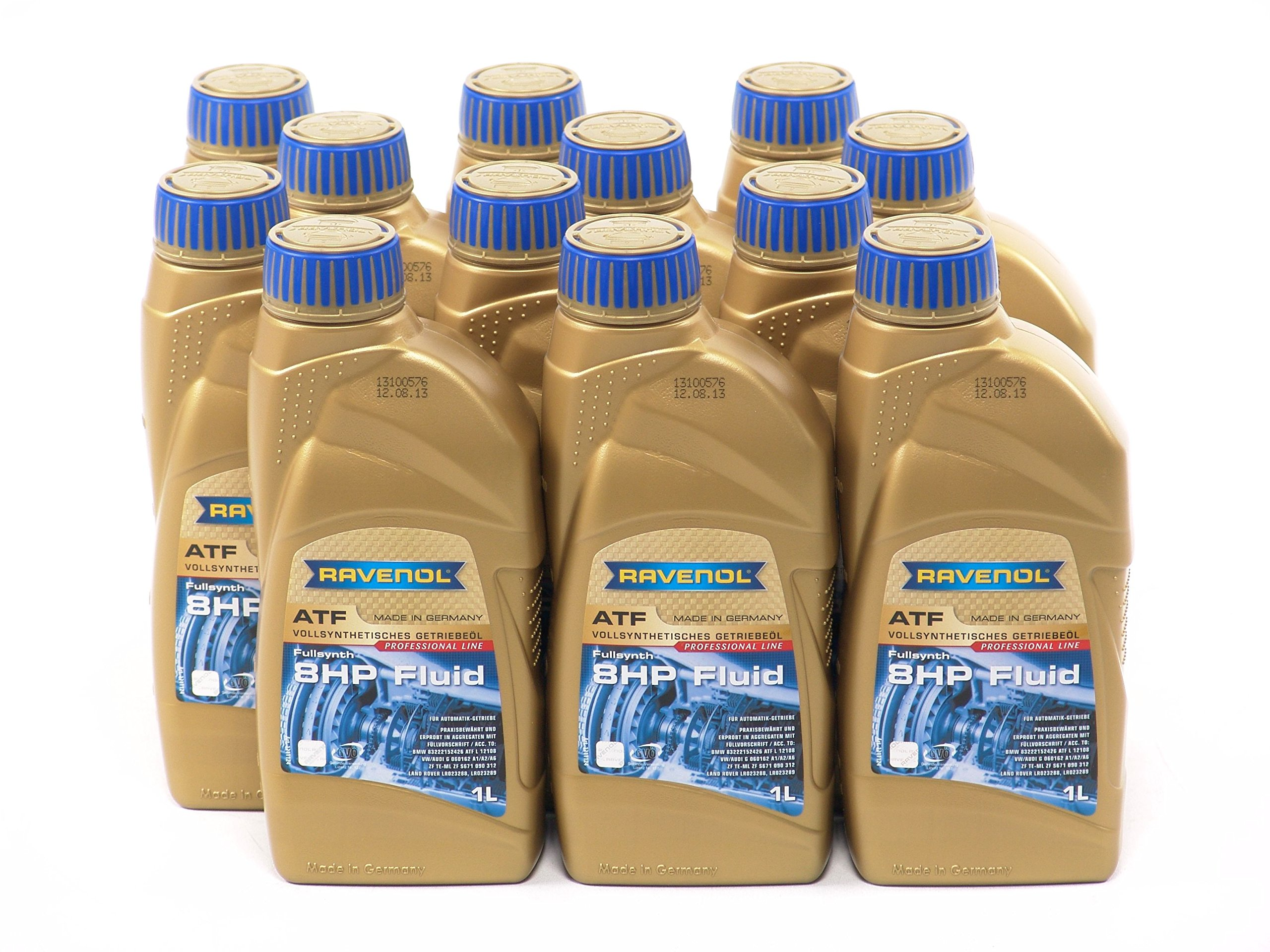 RAVENOL J1D2113-12 ATF (Automatic Transmission Fluid) - 8 HP 8-Speed & 6-Speed ZF Transmissions (1L, Case of 12)