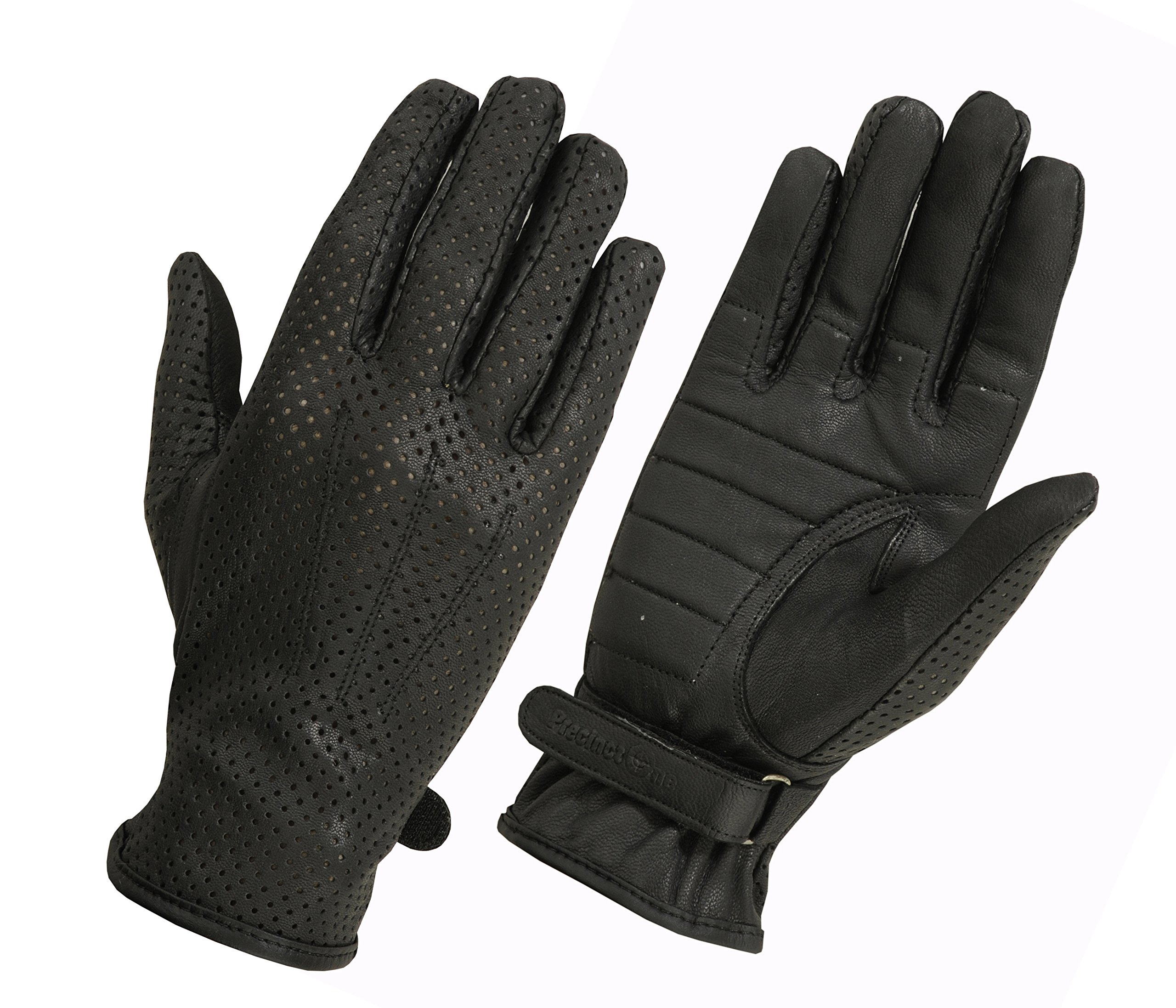 Ladies Weatherlite Water Resistance Leather Driving, Police, and Motorcycle Glove (Medium, Black)