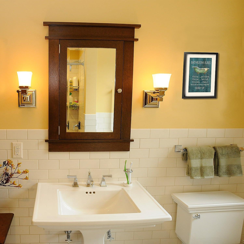 Amazon.com: Art-logo Vintage Style Bathroom Rules Bathtub Shower ...