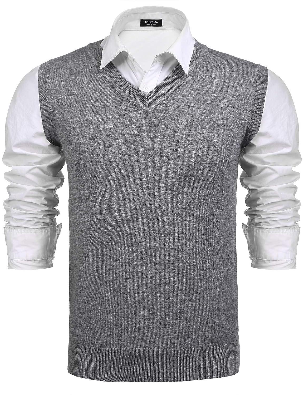 e9c03a90b4824 Coofandy - Pull sans manche - Homme  Amazon.fr  Vêtements et accessoires