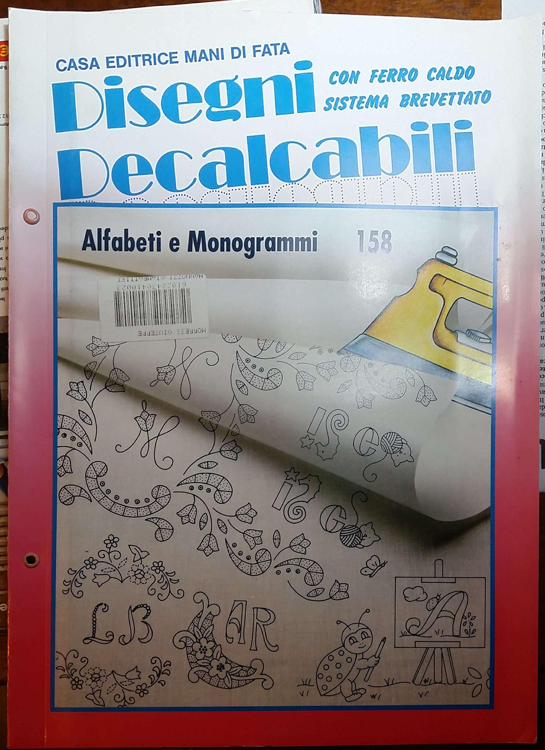 Disegni Decalcabili Per Lenzuolini.Amazon It Disegni Decalcabili 247 Speciale Corredini E