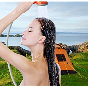 Ivation Portable Outdoor Shower, Battery Powered