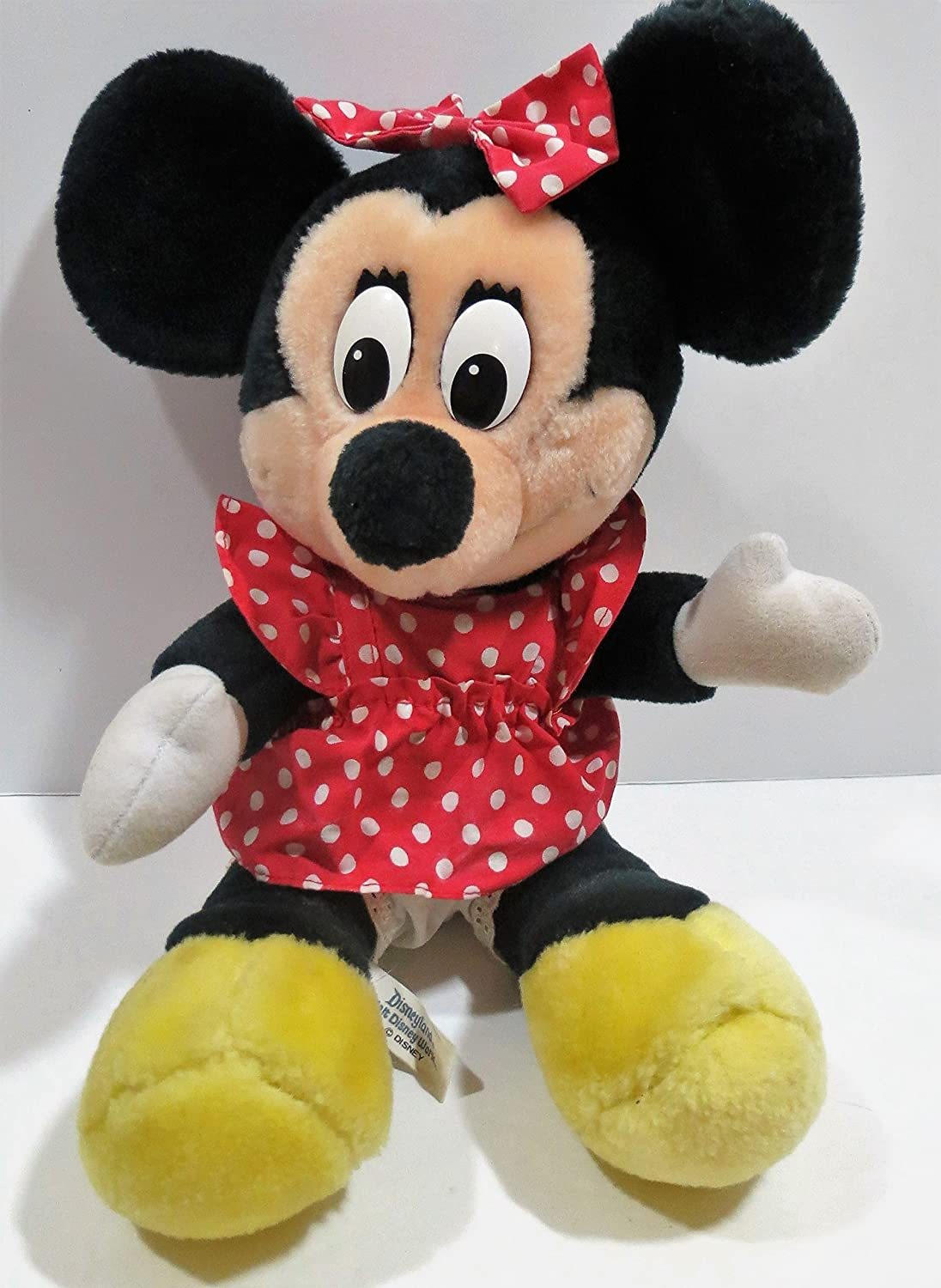 Mickey Mouse Collectable Vintage Plush Soft Toy Gift 1987 Walt Disney Minnie