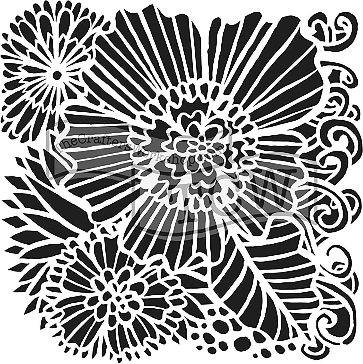 CRAFTERS WORKSHOP TCW750S Template 6X6-Dahlia Blooms