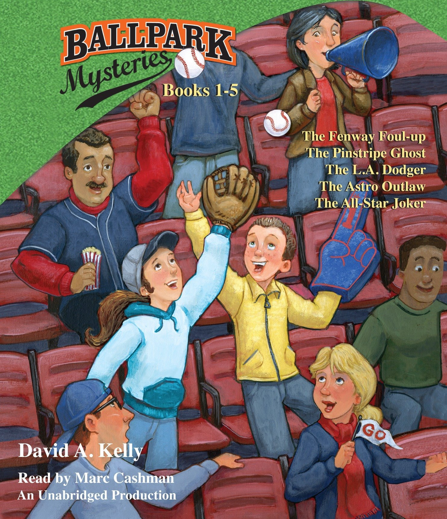 Ballpark Mysteries Collection: Books 1-5: #1 The Fenway Foul-up; #2 The Pinstripe Ghost; #3 The L.A. Dodger; #4 The Astro Outlaw; #5 The All-Star Joker by Brand: Listening Library (Audio)