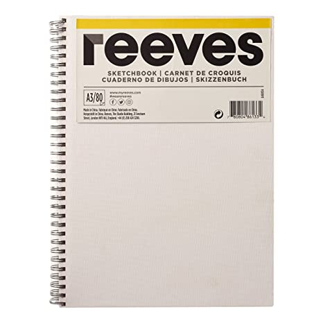 Canvas Covered Spiral Bound A4 Reeves Hardback Cover Sketch Book