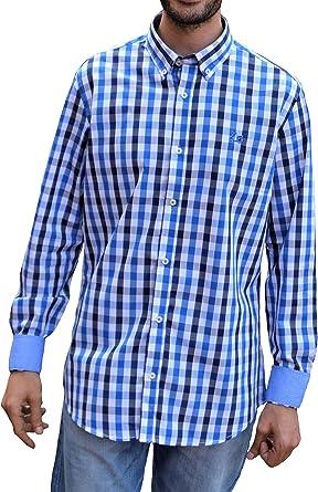 Ridebike Camisa de Cuadros Azules Vespa | Diseño de los puños ...
