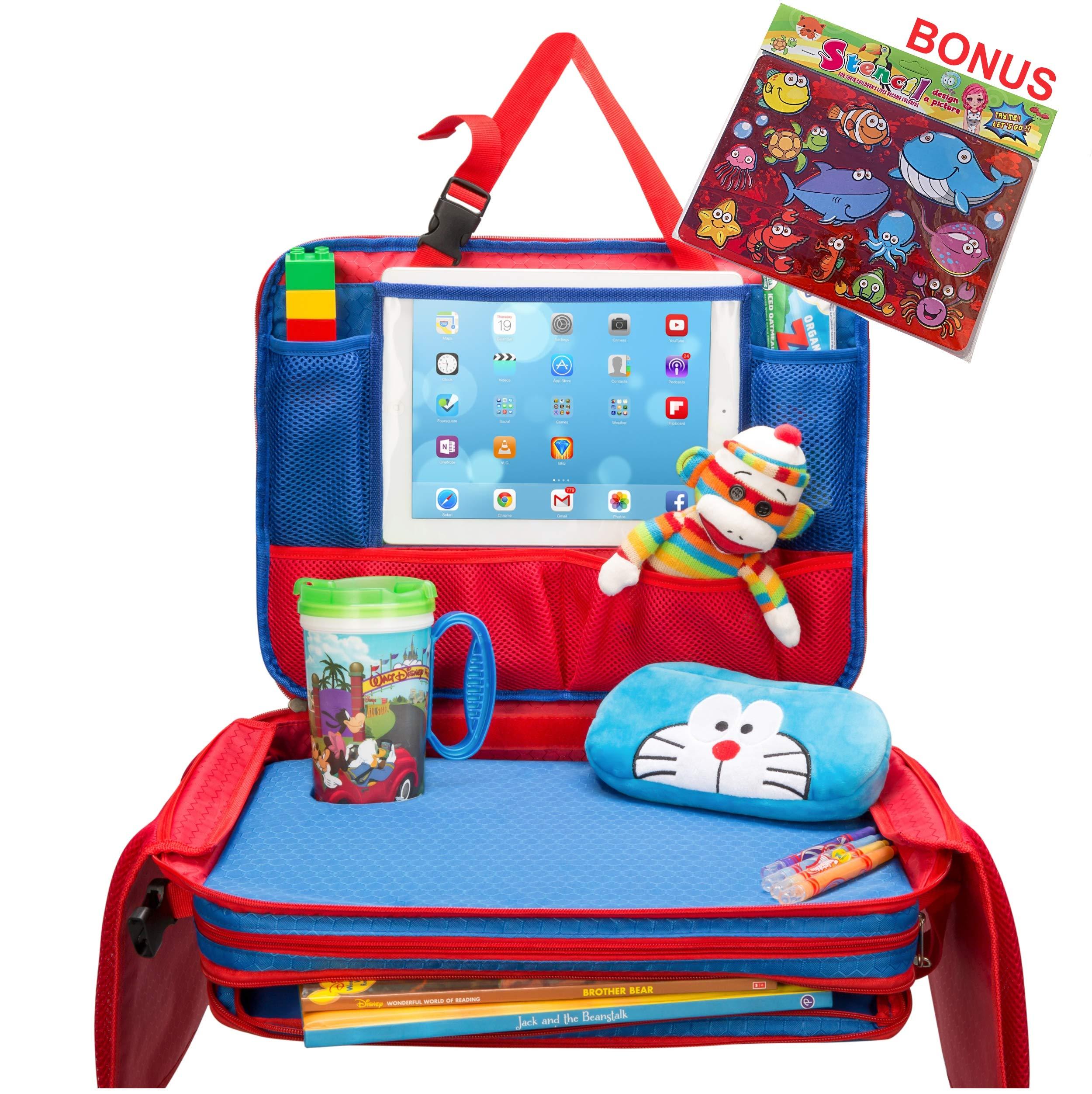 Amazon.com  Kids Travel Tray - Detachable Top 4-in-1 Car Organizer w ... 62ecc2695e
