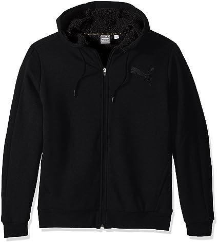 PUMA Men's Sherpa Full Zip Hoody, Cotton Black, Large