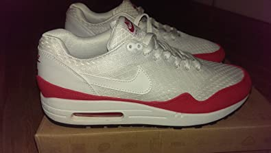 release date 4accf ed68a NIKE Men air max 1 em in white- uni red size 12