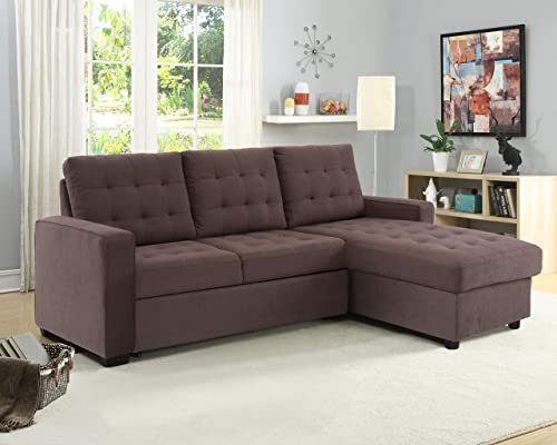 Serta BRA-2PC-ES-SET Bakersfield Upholstered Convertible Sofa, 90 Long x 65 Deep , Espresso