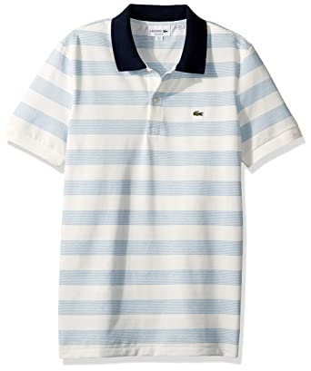 1590672b57 Lacoste Men's S/S Polo Pique Regular Fit Striped at Amazon Men's Clothing  store: