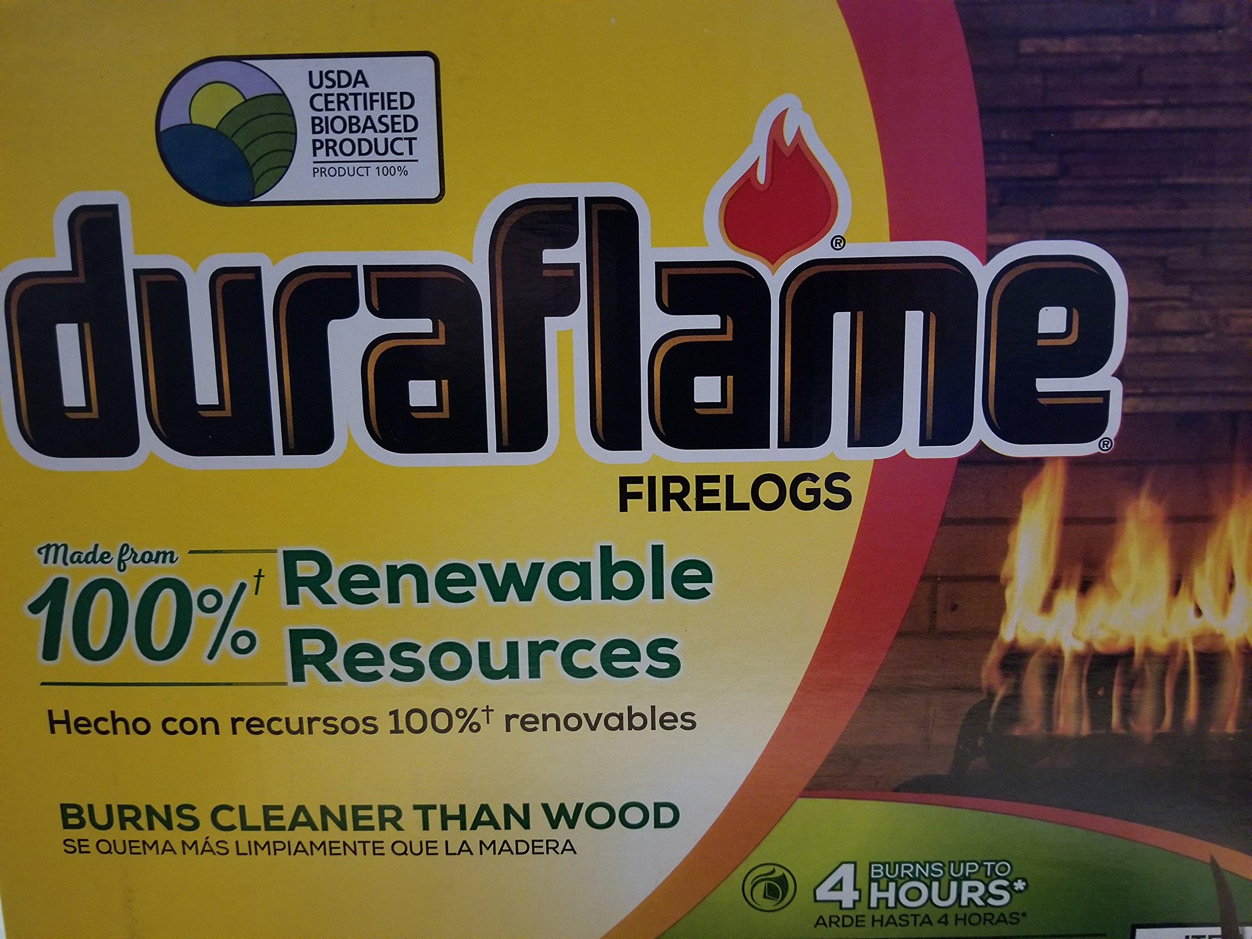 Natural Duraflame Fire Logs 6 Lb - Case of 9 by DuraFlame