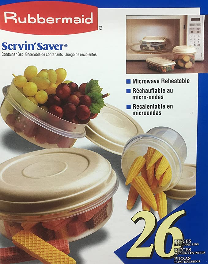 Amazon.com: Rubbermaid Servin Saver Vintage 1996 20 Pieces ...