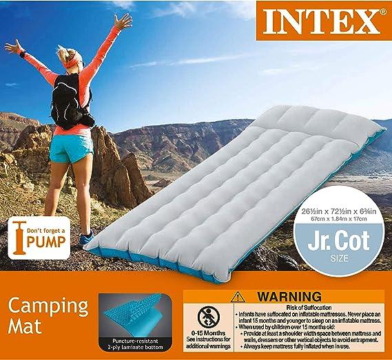 Amazon.com: Intex Colchón hinchable para camping, 72.5
