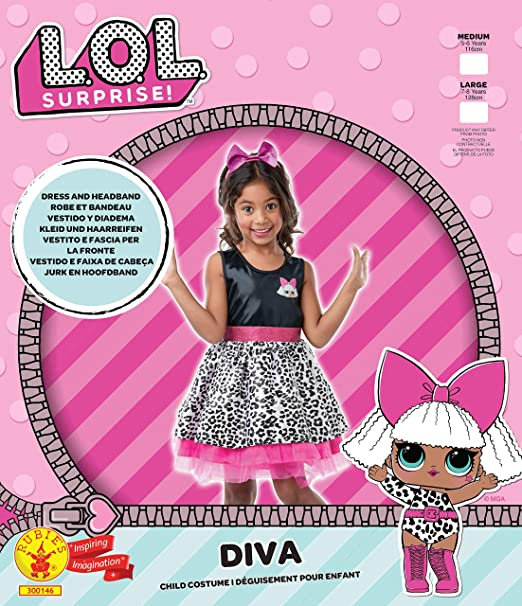 Lol Surprise - Disfraz Diva para niñas, 7-8 años (Rubies 300146-L ...