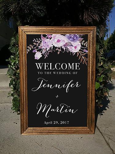 Amazon.com: Welcome Wedding Sign Chalkboard - Welcome To Our Wedding ...