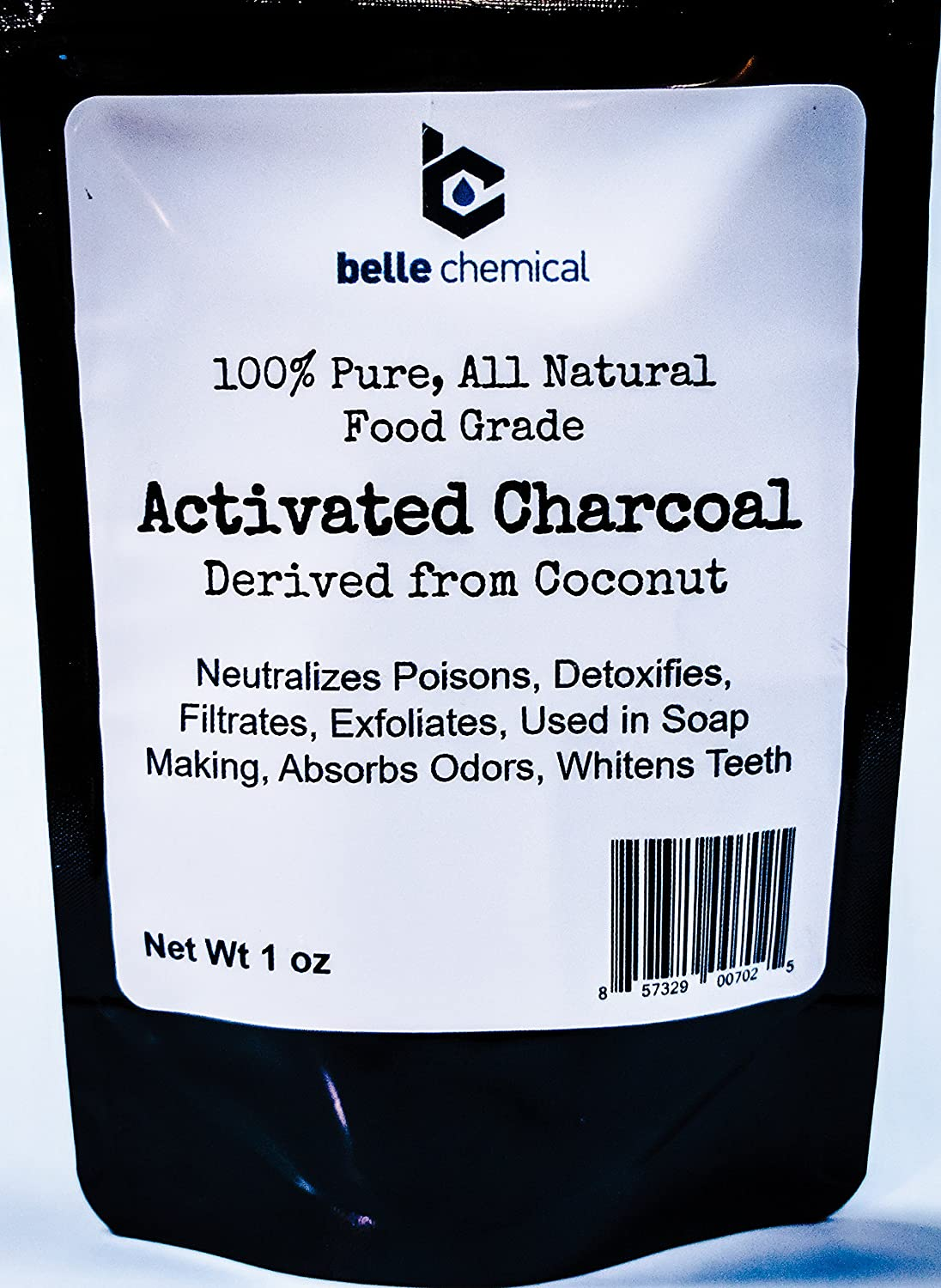 Organic Coconut Activated Charcoal Powder - Food Grade, Kosher - Teeth Whitening, Facial Scrub, Soap Making (1 ounce to 5 pounds (1 ounce)
