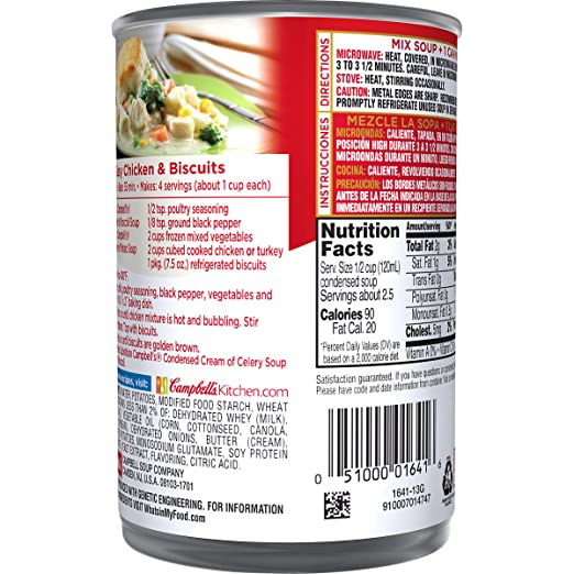 Campbells Condensed Cream of Potato Soup, 10.5 oz. Can (Pack of 12)