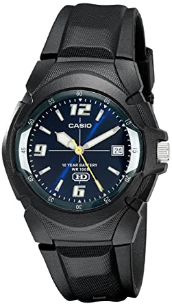 Casio MW-600F-2AV - Reloj analógico de caballero sumergible 100 atm, color negro: Casio: Amazon.es: Relojes