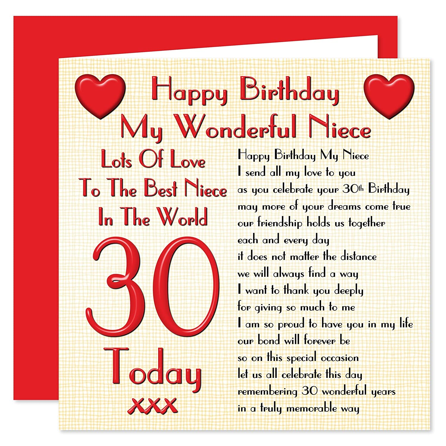 Niece 30th happy birthday card lots of love to the best niece in niece 30th happy birthday card lots of love to the best niece in the world 30 today amazon office products kristyandbryce Choice Image