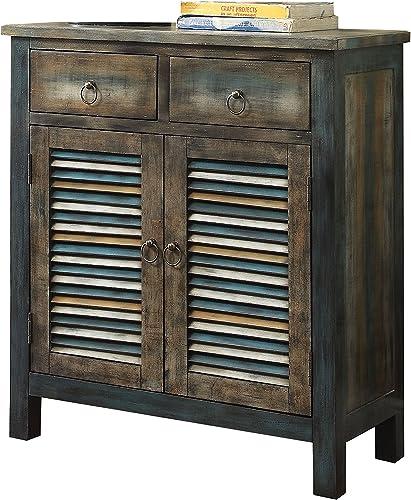 ACME Glancio Console Table – 97253 – Antique Oak Teal