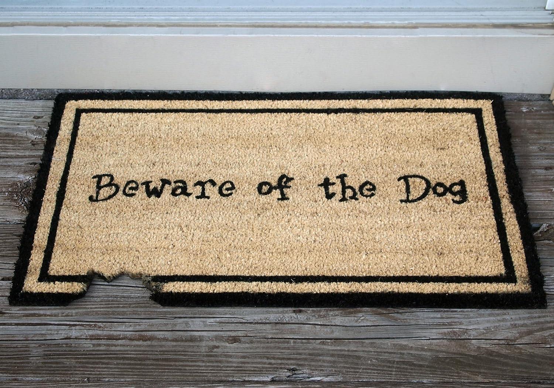 Amazon.com : Kempf Beware Of The Dog Doormat, Rubber Backed, 18 By 30 By  0.5 Inch : Outdoor Doormats : Garden U0026 Outdoor