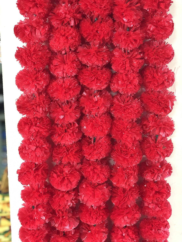 5 Pies Artificial Caléndula Pack de 50 Flores guirnaldas Boda Decoración Hogar
