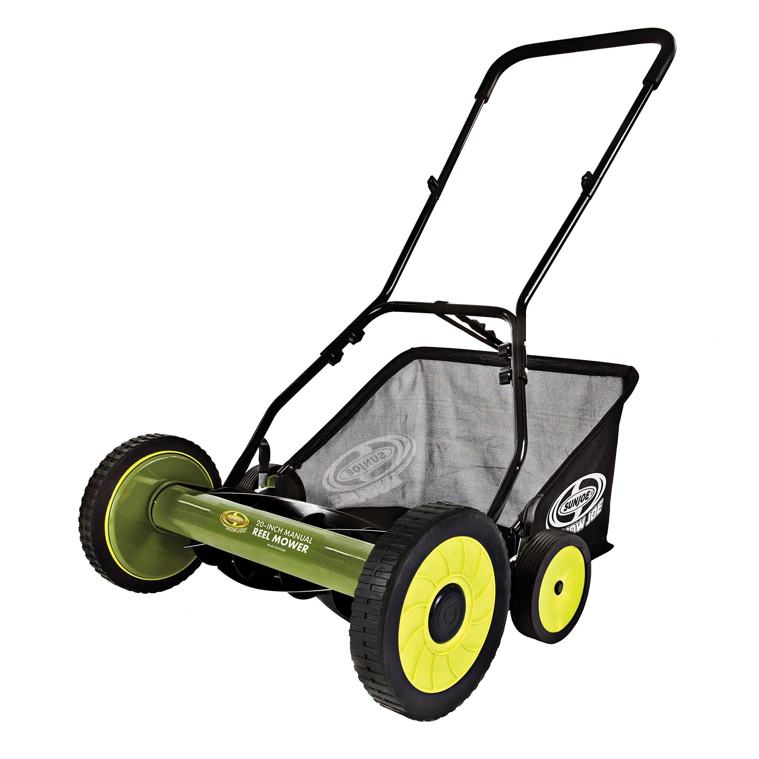 Snow Joe FBA_MJ502M 20-Inch Manual Reel Mower w/Grass Catcher, Green by Snow Joe