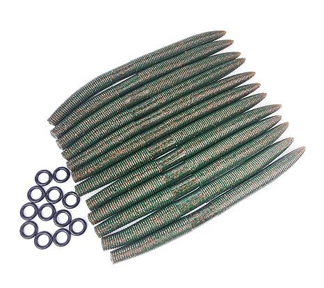 leosport suave señuelos cebo flotador de plástico gusano Senko 12pcs + juntas tóricas de loco 12