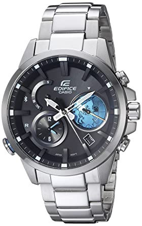 2f0cdb67ca95 Image Unavailable. Image not available for. Color  Casio Men s Edifice  Connected Quartz Watch with Stainless-Steel ...