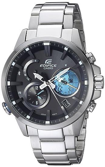 Casio De los hombres Edifice conectado de cuarzo acero inoxidable Casual reloj, color: silver