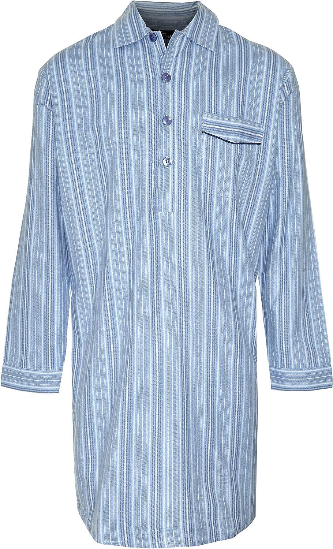 Mens Champion Brushed Cotton Striped Nightshirt Sleepwear Nightwear M - 6XL