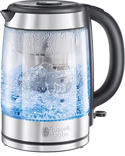 russell hobbs 15082 1 7 l blue illuminating glass kettle. Black Bedroom Furniture Sets. Home Design Ideas
