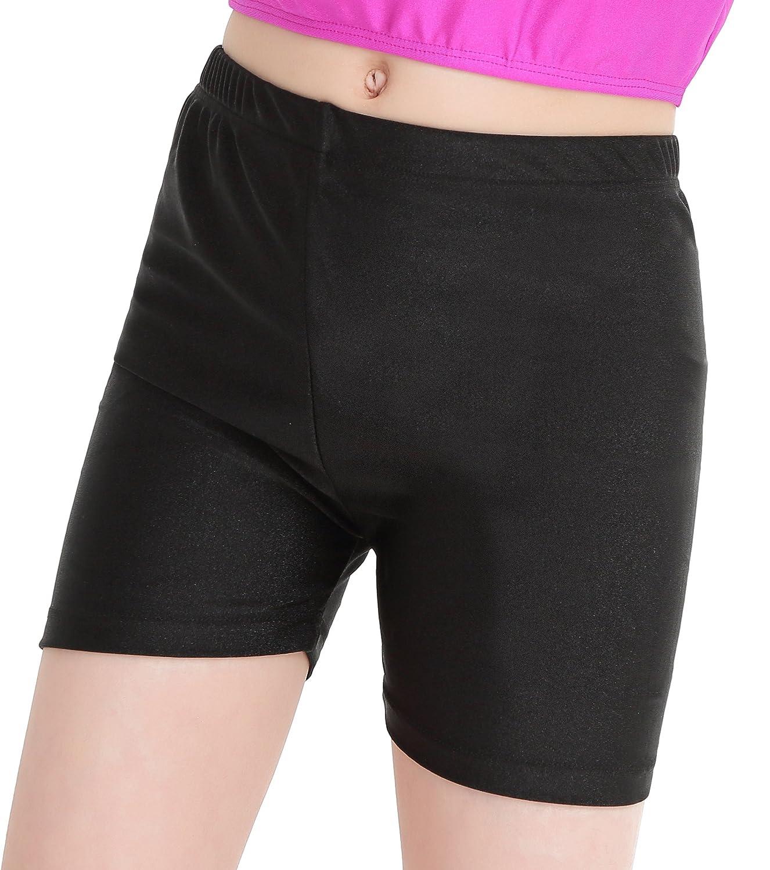 Speerise Girls Kids Spandex Shorts for Dance or Gymnastics