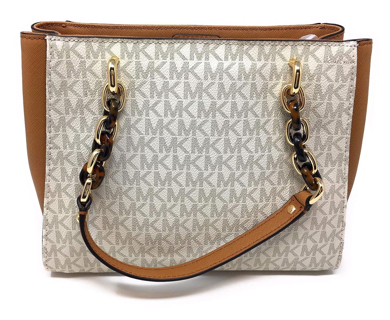 bc8224e08996 Amazon.com  Michael Michael Kors Sofia Vanilla Acorn MK Signature Medium  Tote Bag  Shoes
