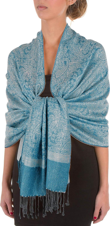 Sakkas 70 x 28 Paisley Self-Design Pashmina Shawl//Wrap//Stole