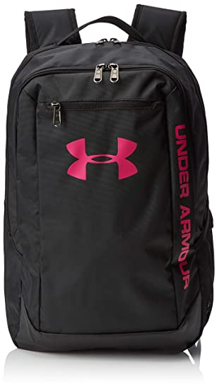 Under Armour UA Hustle Backpack Ldwr Mochila, Hombre, Negro Black/Tropic Pink 005, Talla única: Amazon.es: Deportes y aire libre