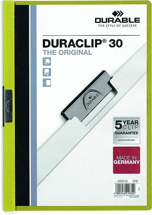30 Sheets Free P/&P! Landscape Dark Blue Durable Duraclip 30 Clip File A4
