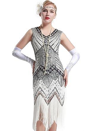 Babeyond Damen Flapper Kleider voller Pailletten Retro 1920er Jahre ...