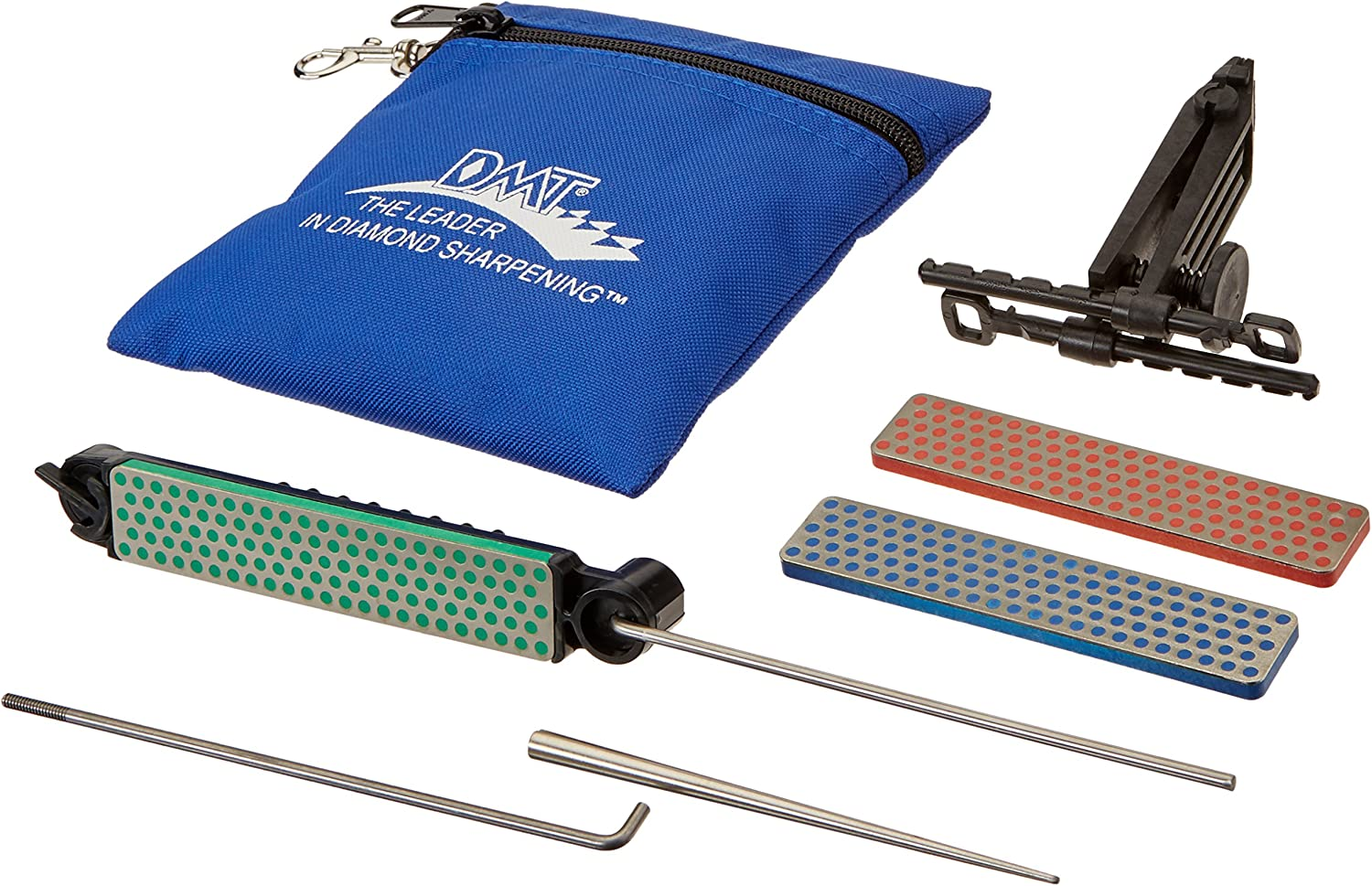 DMT ADELUXE Deluxe Aligner Kit 3 Diamond Whetstone//1 Serrated Sharpener