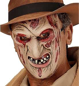 WIDMANN Máscara Asesino Quemado Adulto Halloween - Única: Amazon.es: Juguetes y juegos