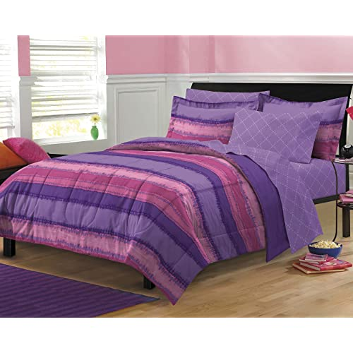 Charming My Room Tie Dye Ultra Soft Microfiber Comforter Sheet Set, Multi Colored,  Full