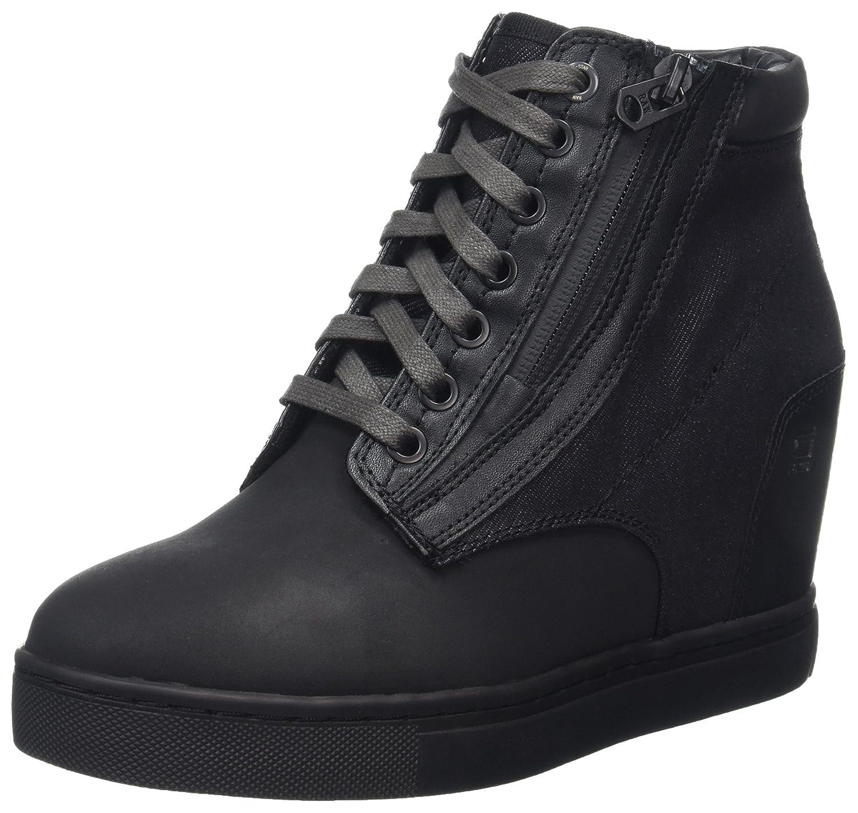 G-Star Raw Pristel Zip Wedge, Zapatillas Altas para Mujer 40 EU|Negro (Black)